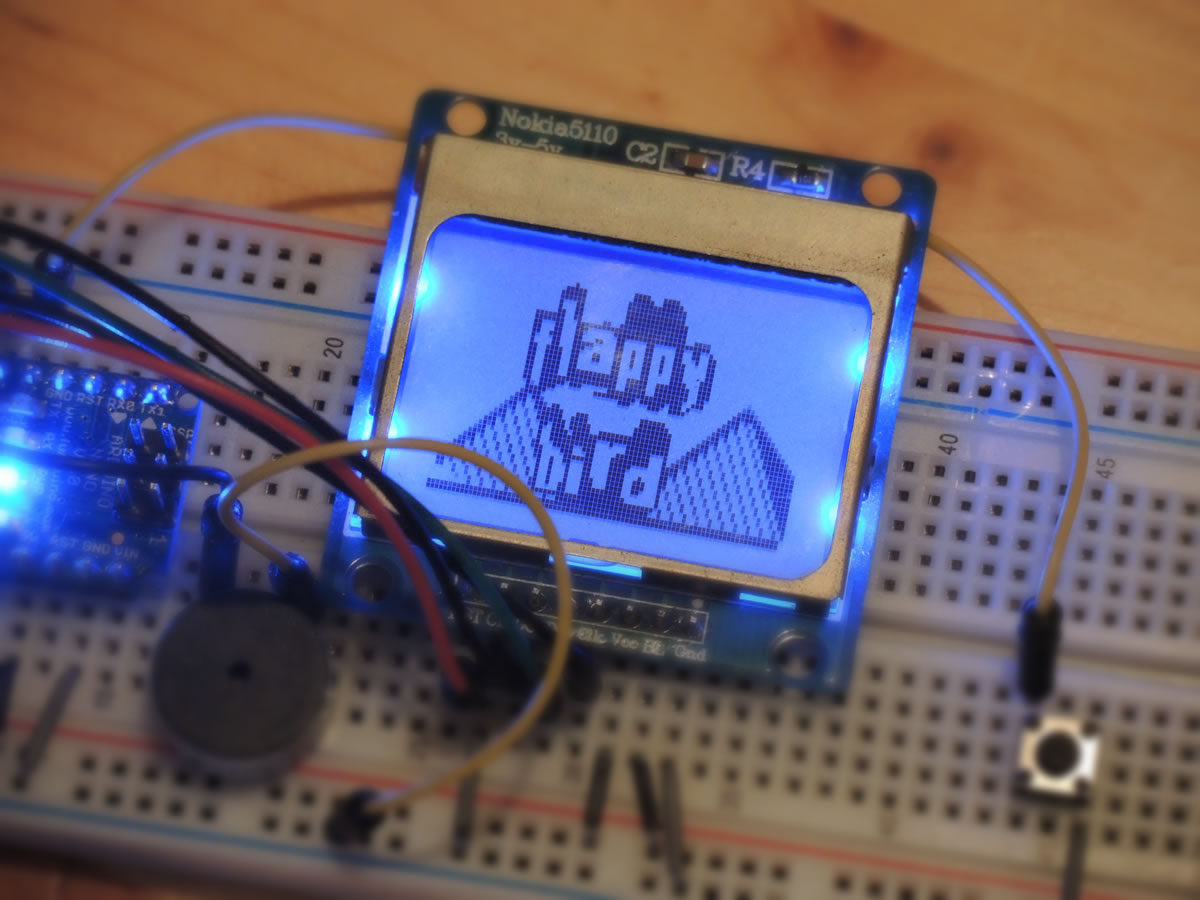 Arduino flappy bird game on nano gabe nix